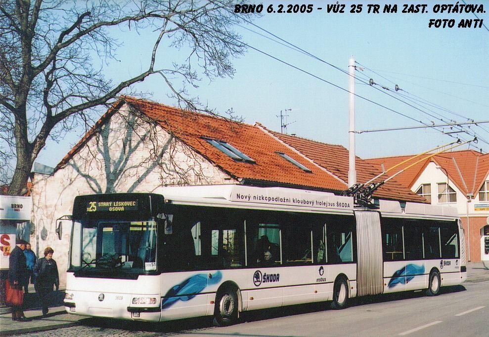 Fotogalerie » Škoda 25Tr Citybus 3609 | Brno | Jundrov | Veslařská | Optátova