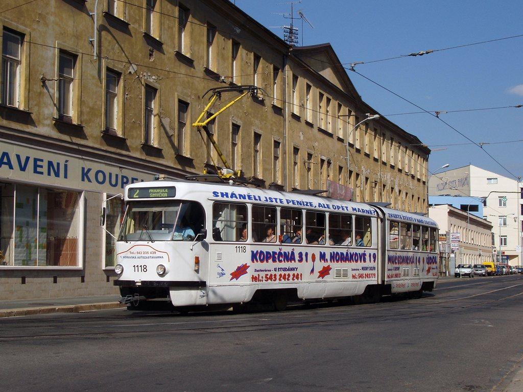 Fotogalerie » ČKD Tatra K2P 1118 | Brno | Staré Brno | Hybešova