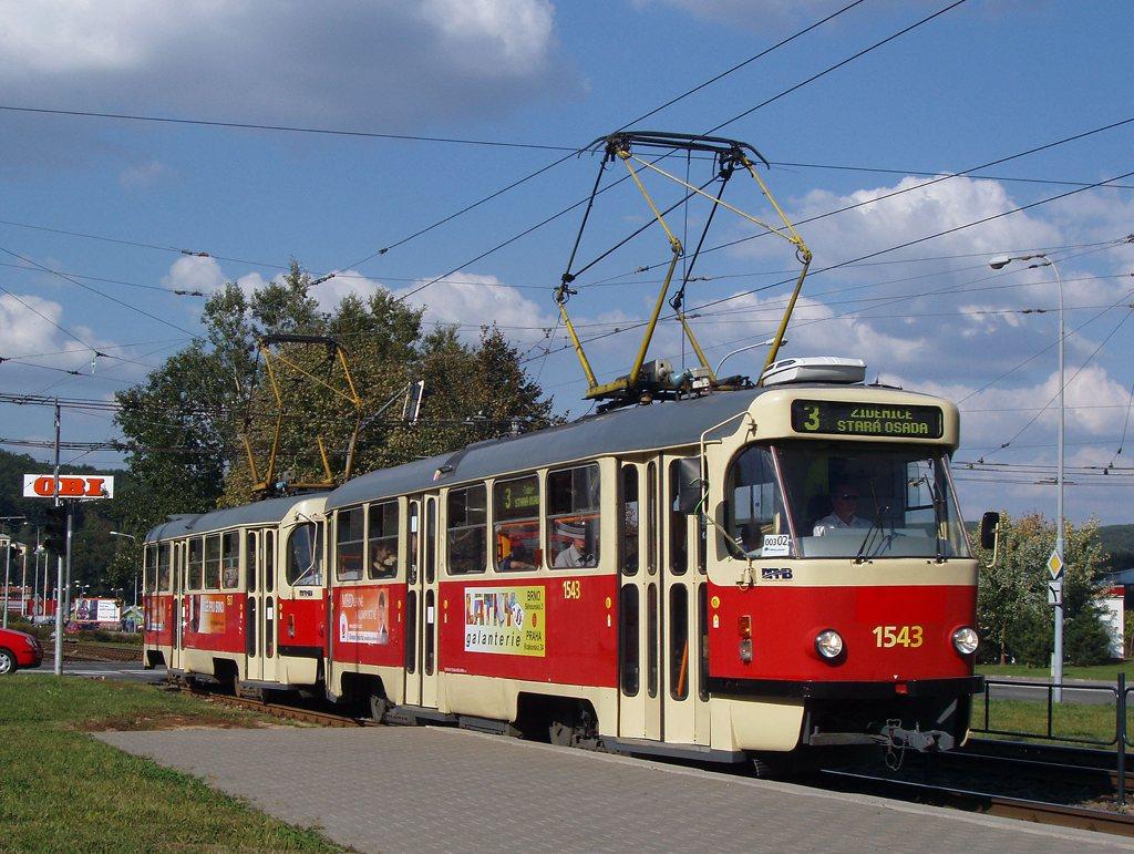 Fotogalerie » ČKD Tatra T3P 1543 | ČKD Tatra T3P 1587 | Brno | Komín | Kníničská