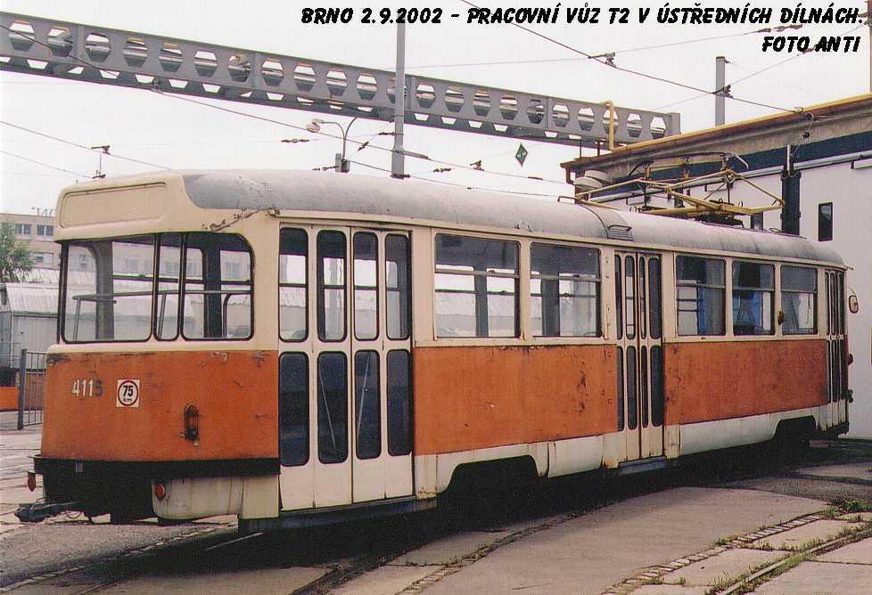 Fotogalerie » Tatra T2 služební 4115 | Brno | Ústřední dílny
