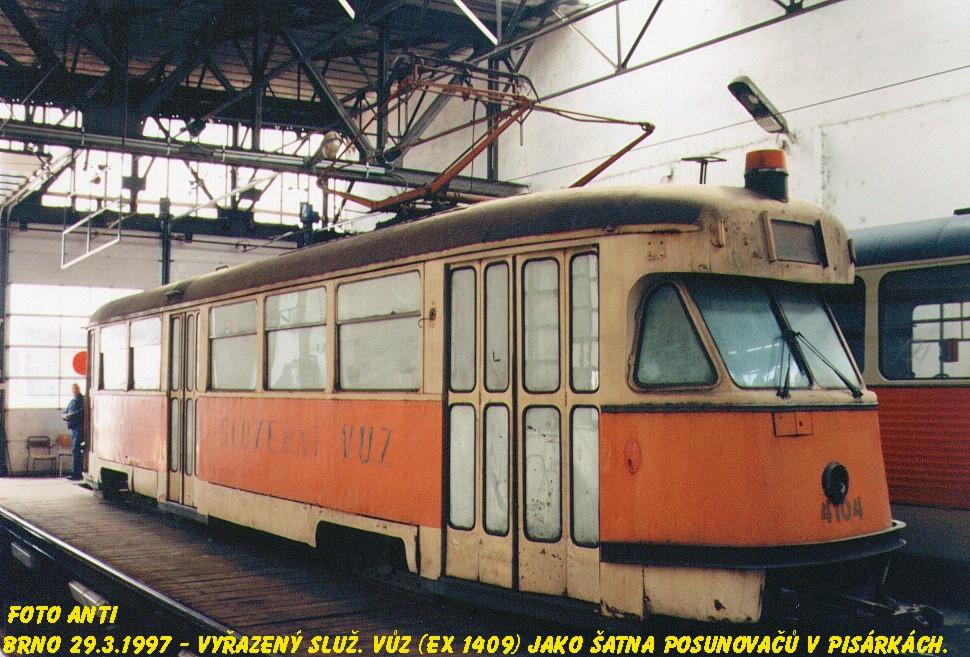 Fotogalerie » Tatra T2 služební 4104 | Brno | Pisárky | Vozovna Pisárky