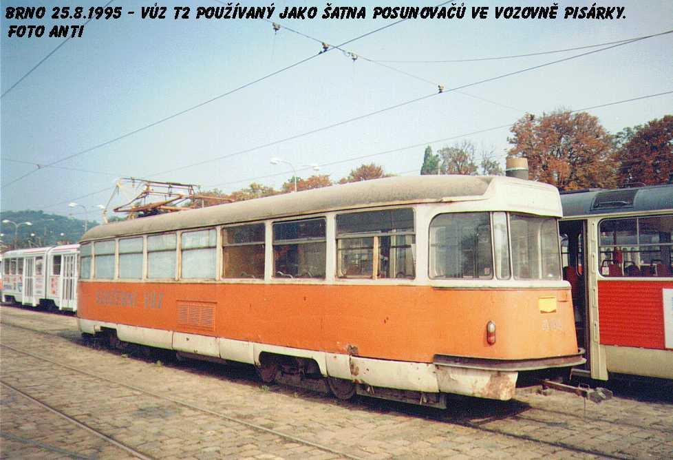 Fotogalerie » Tatra T2 služební 4104   Brno   Pisárky   Vozovna Pisárky