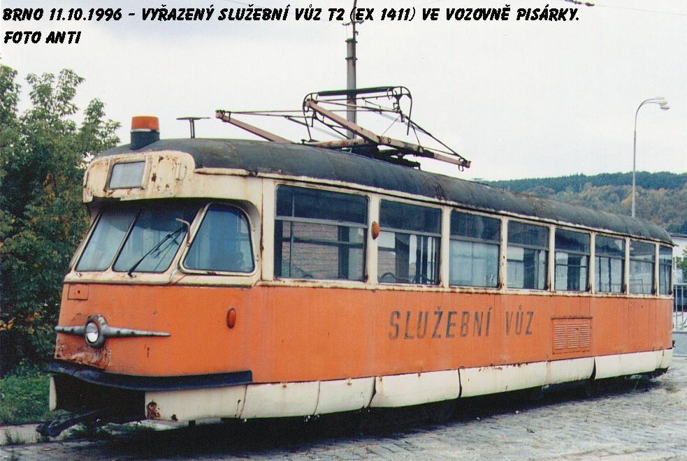 Fotogalerie » Tatra T2 služební 4105 | Brno | Pisárky | Vozovna Pisárky
