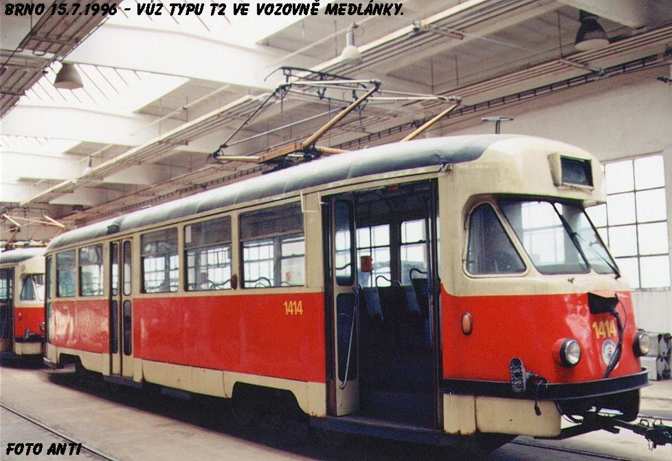 Fotogalerie » Tatra T2R 1414 | Brno | Medlánky | Vozovna Medlánky