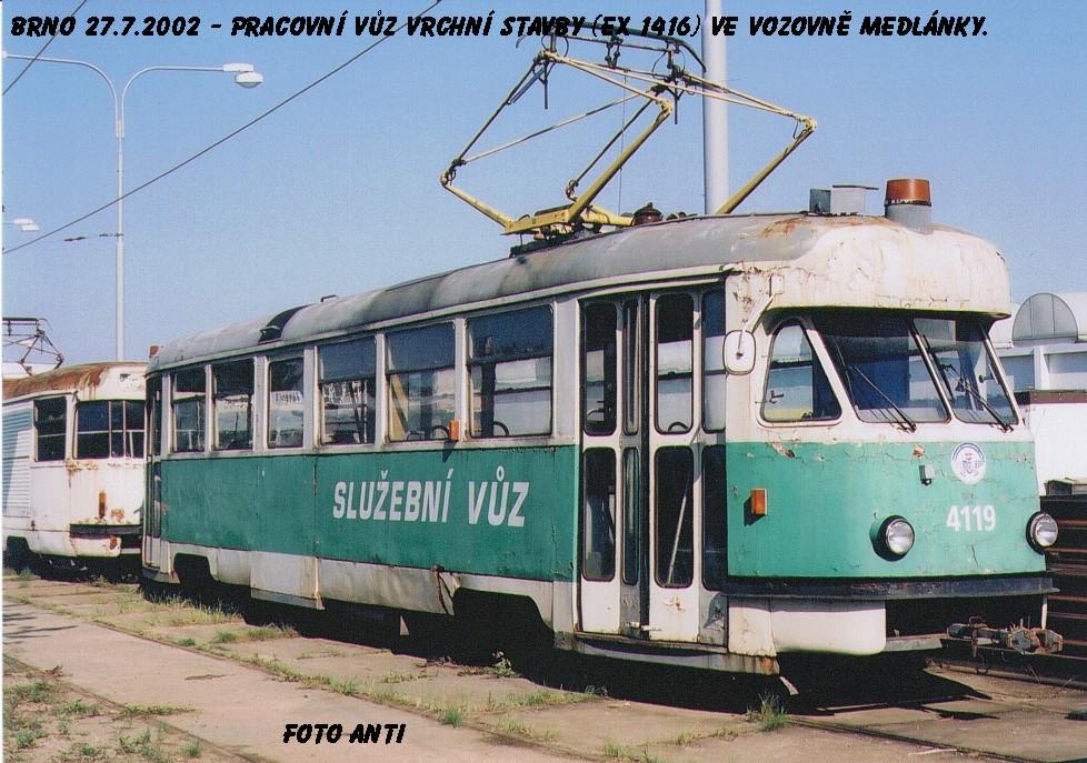 Fotogalerie » Tatra T2 služební 4119 | Brno | Ústřední dílny
