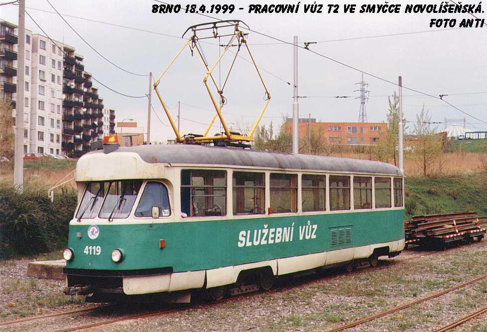 Fotogalerie » Tatra T2 služební 4119 | Brno | Líšeň