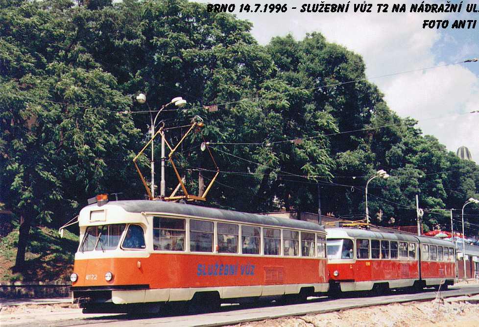 Fotogalerie » Tatra T2 služební 4122 | ČKD Tatra K2 1098 | Brno | střed | Nádražní