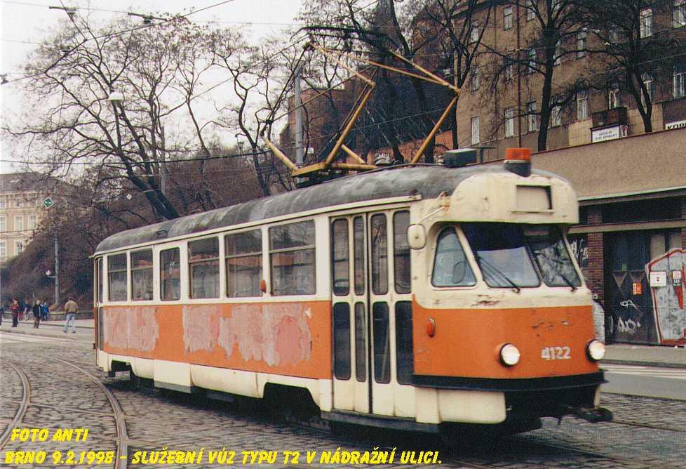 Fotogalerie » Tatra T2 služební 4122 | Brno | střed | Nádražní