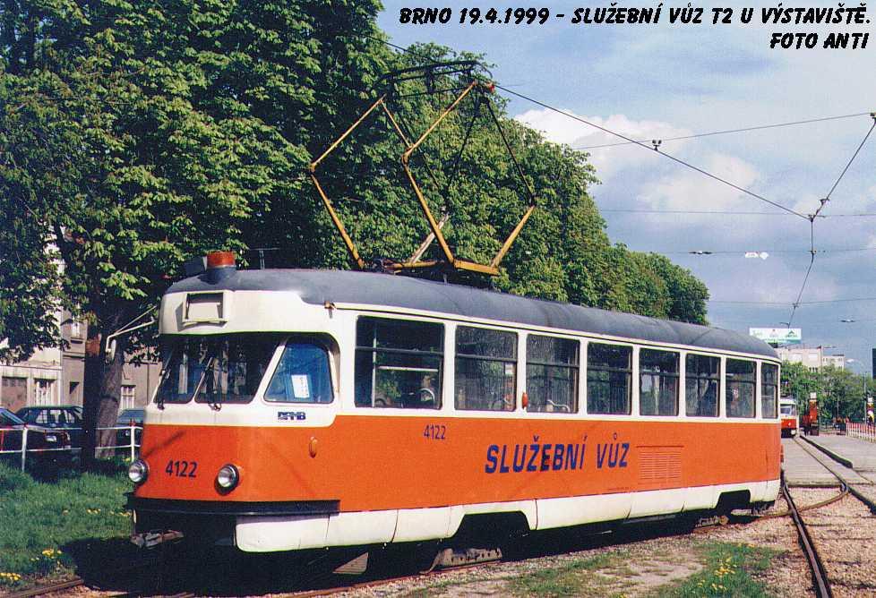 Fotogalerie » Tatra T2 služební 4122 | Brno | Pisárky | Výstaviště