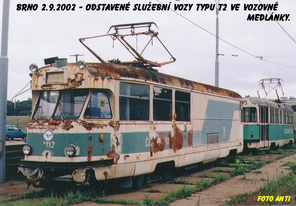 Fotogalerie » Tatra T2 služební 4113 | Brno | Ústřední dílny
