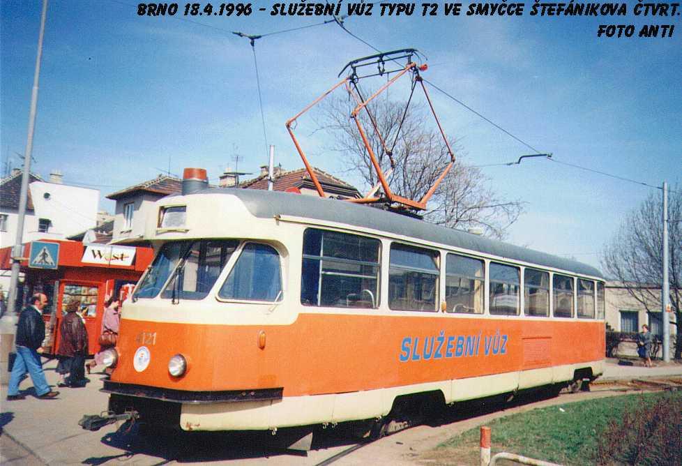 Fotogalerie » Tatra T2 služební 4121 | Brno | Štefánikova čtvrť | Štefánikova čtvrť
