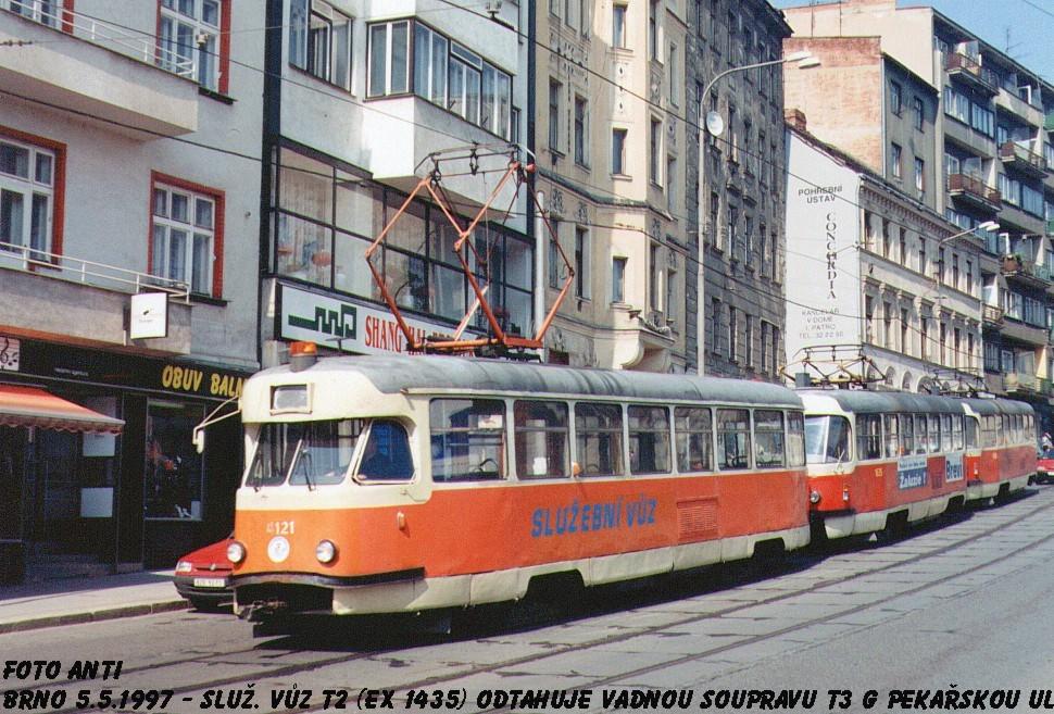 Fotogalerie » Tatra T2 služební 4121 | Brno | Staré Brno | Pekařská
