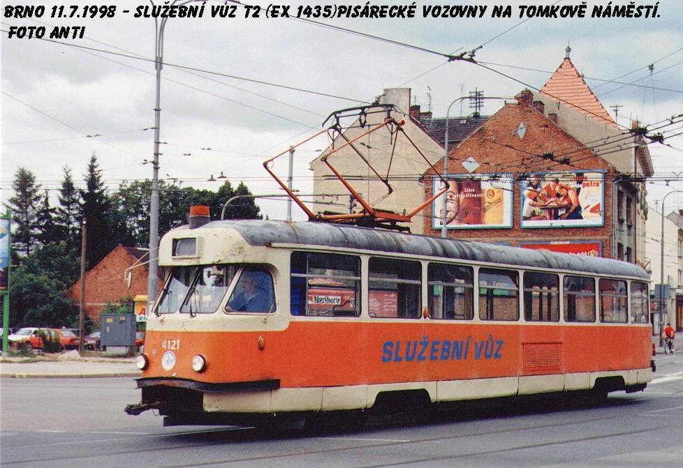 Fotogalerie » Tatra T2 služební 4121 | Brno | Husovice | Tomkovo náměstí