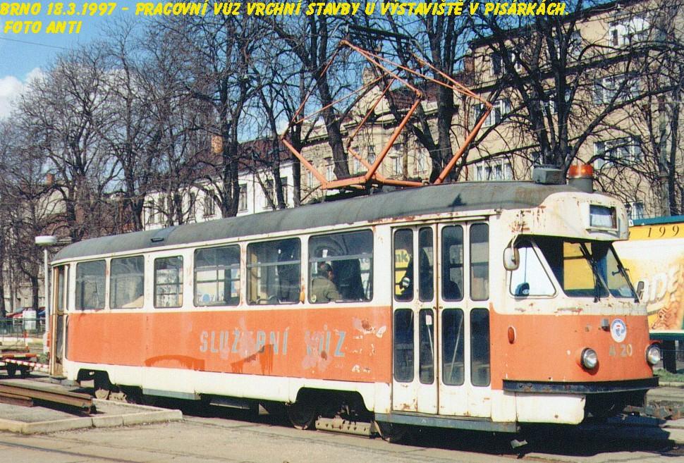 Fotogalerie » Tatra T2 služební 4120 | Brno | Staré Brno | Výstaviště