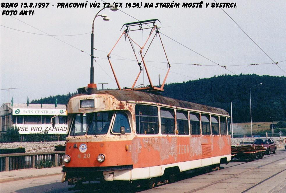 Fotogalerie » Tatra T2 služební 4120 | Brno | Bystrc | Kníničská