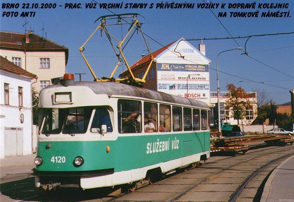 Fotogalerie » Tatra T2 služební 4120 | Brno | Husovice | Tomkovo náměstí | Tomkovo náměstí