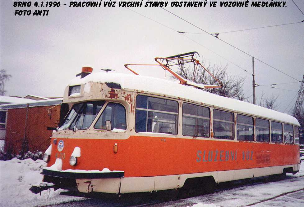 Fotogalerie » Tatra T2 služební 4120 | Brno | Medlánky | Vozovna Medlánky