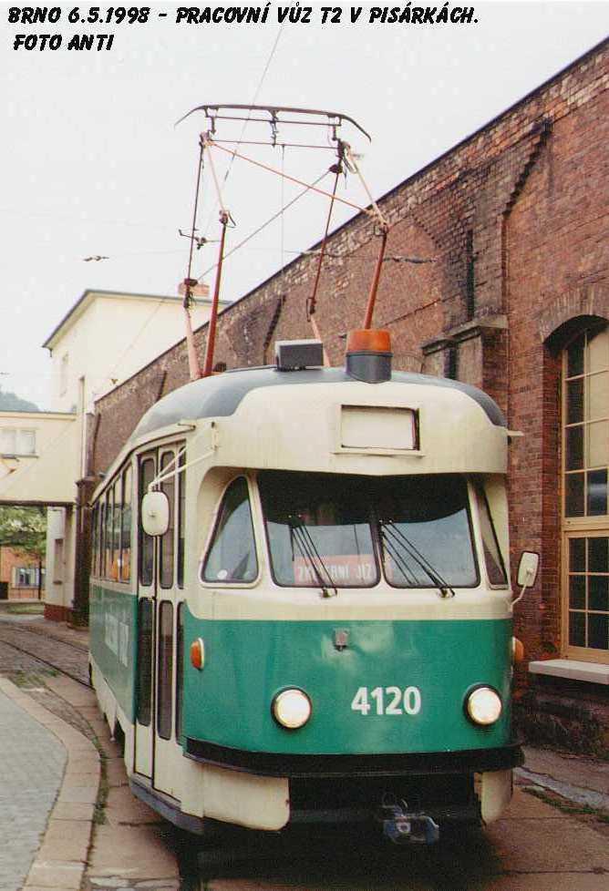 Fotogalerie » Tatra T2 služební 4120 | Brno | Pisárky | Vozovna Pisárky