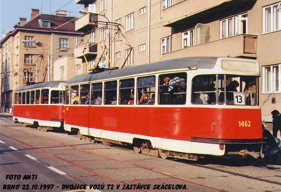 Fotogalerie » Tatra T2R 1470 | Tatra T2R 1462 | Brno | Královo Pole | Purkyňova | Skácelova