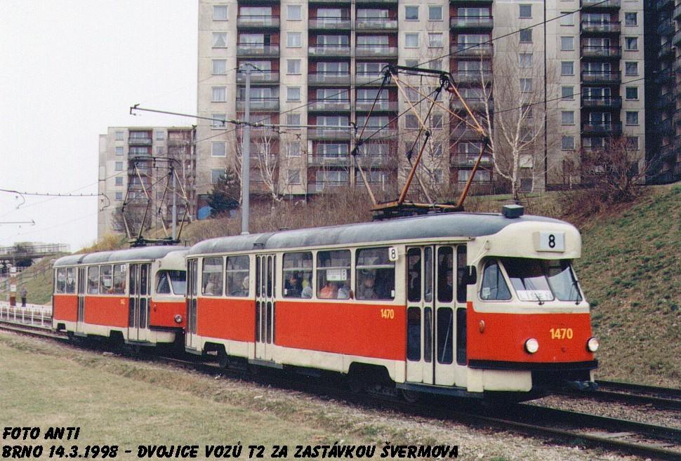 Fotogalerie » Tatra T2R 1470 | Tatra T2R 1462 | Brno | Bohunice