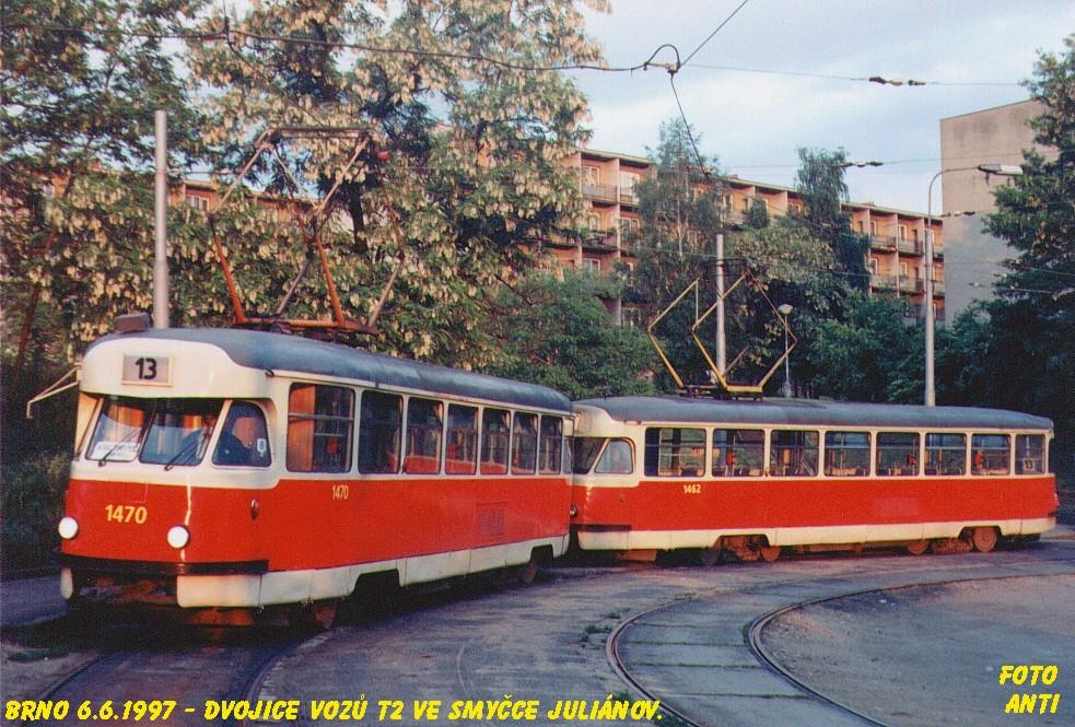 Fotogalerie » Tatra T2R 1470 | Tatra T2R 1462 | Brno | Juliánov | Juliánov