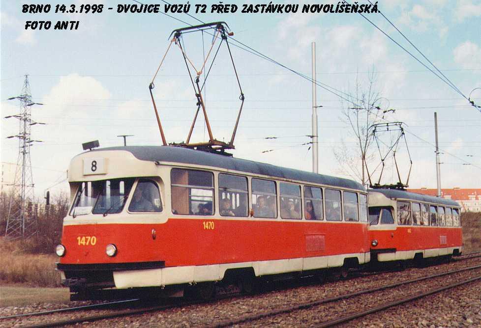 Fotogalerie » Tatra T2R 1470 | Tatra T2R 1462 | Brno | Líšeň