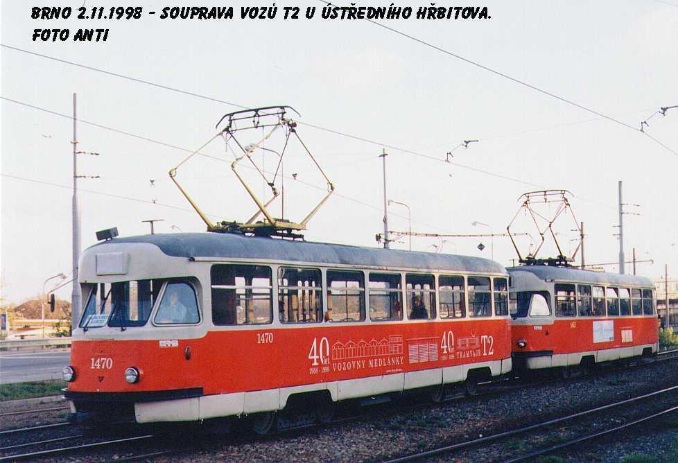 Fotogalerie » Tatra T2R 1470 | Tatra T2R 1462 | Brno | Štýřice | Vídeňská