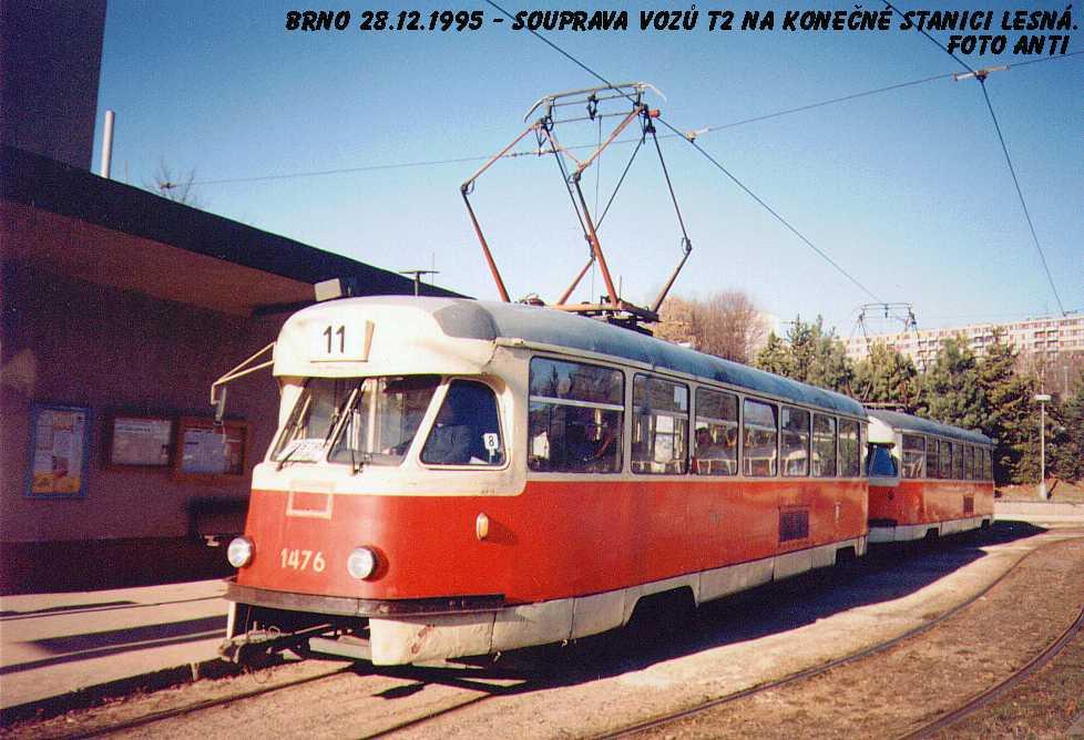 Fotogalerie » Tatra T2R 1476 | Brno | Lesná | Čertova rokle