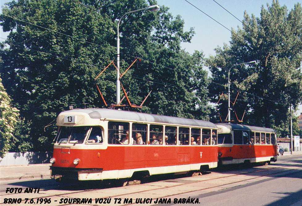 Fotogalerie » Tatra T2R 1476 | Brno | Královo Pole | Jana Babáka
