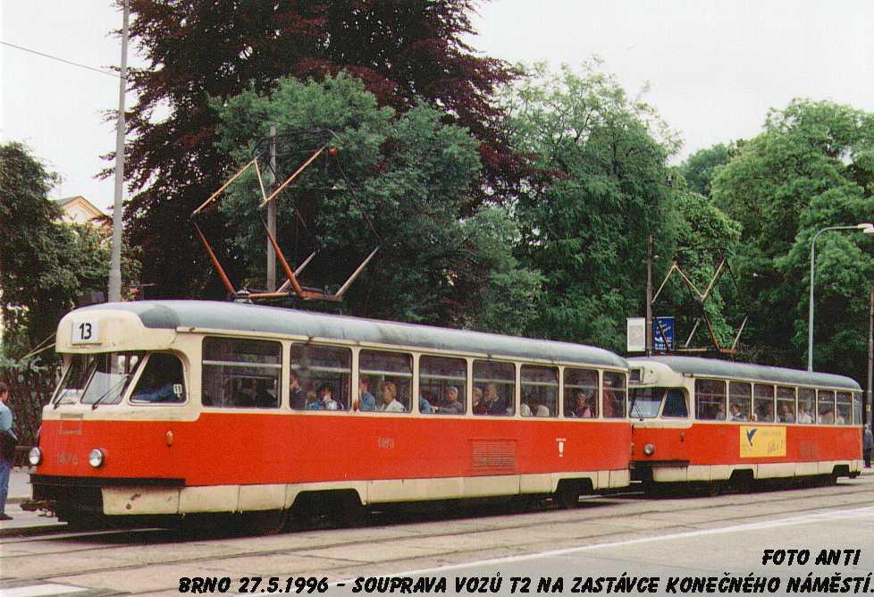 Fotogalerie » Tatra T2R 1476   Brno   Veveří   Konečného náměstí   Konečného náměstí