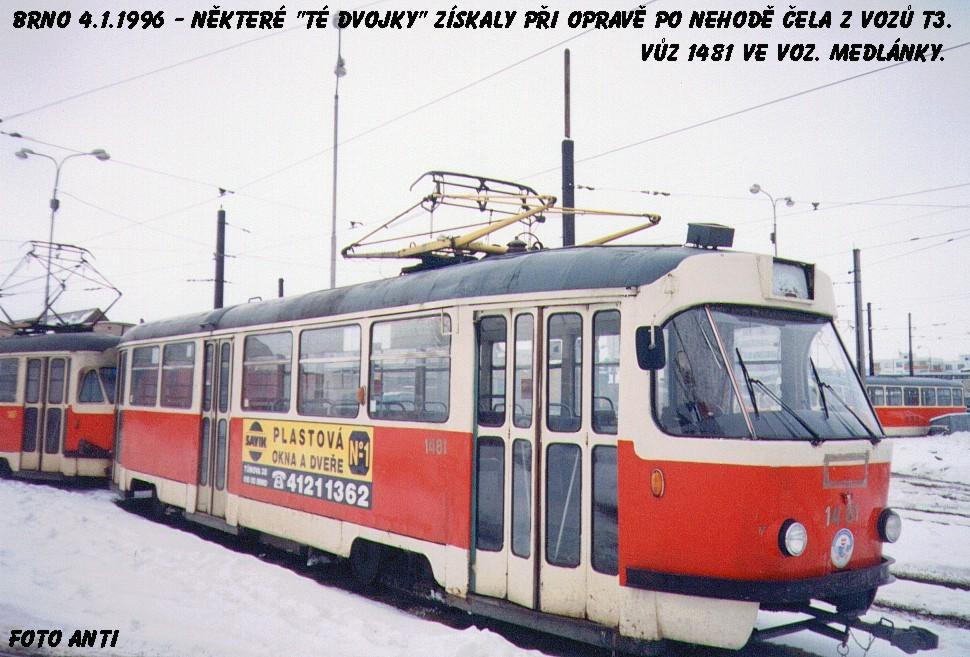 Fotogalerie » Tatra T2R 1481 | Brno | Medlánky | Vozovna Medlánky