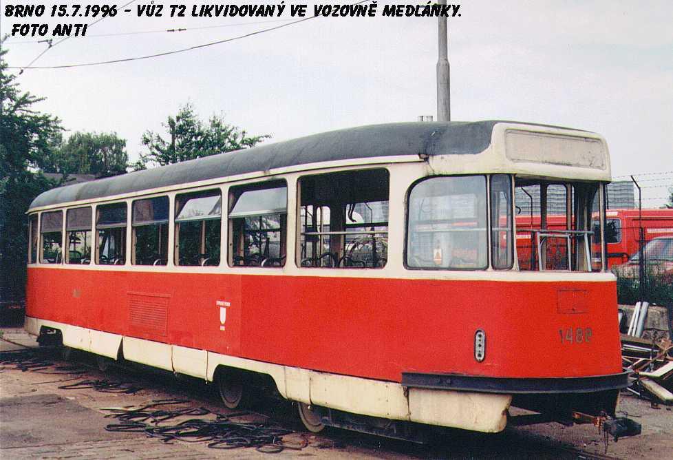 Fotogalerie » Tatra T2R 1488 | Brno | Ústřední dílny