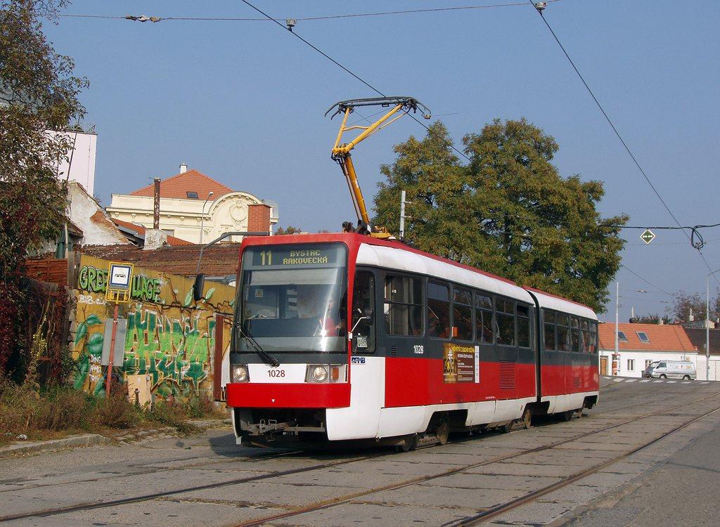 Fotogalerie » ČKD Tatra K2R 1028 | Brno | Žabovřesky | Sochorova | Sochorova