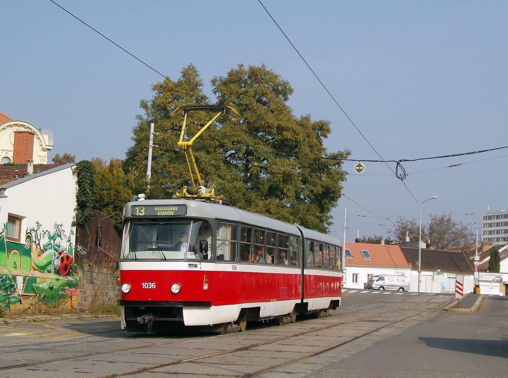 Fotogalerie » ČKD Tatra K2P 1036 | Brno | Žabovřesky | Sochorova | Sochorova