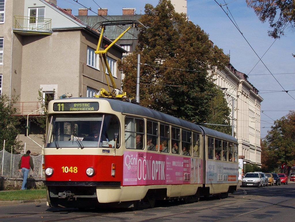 Fotogalerie » ČKD Tatra K2P 1048 | Brno | Černá Pole | Lesnická