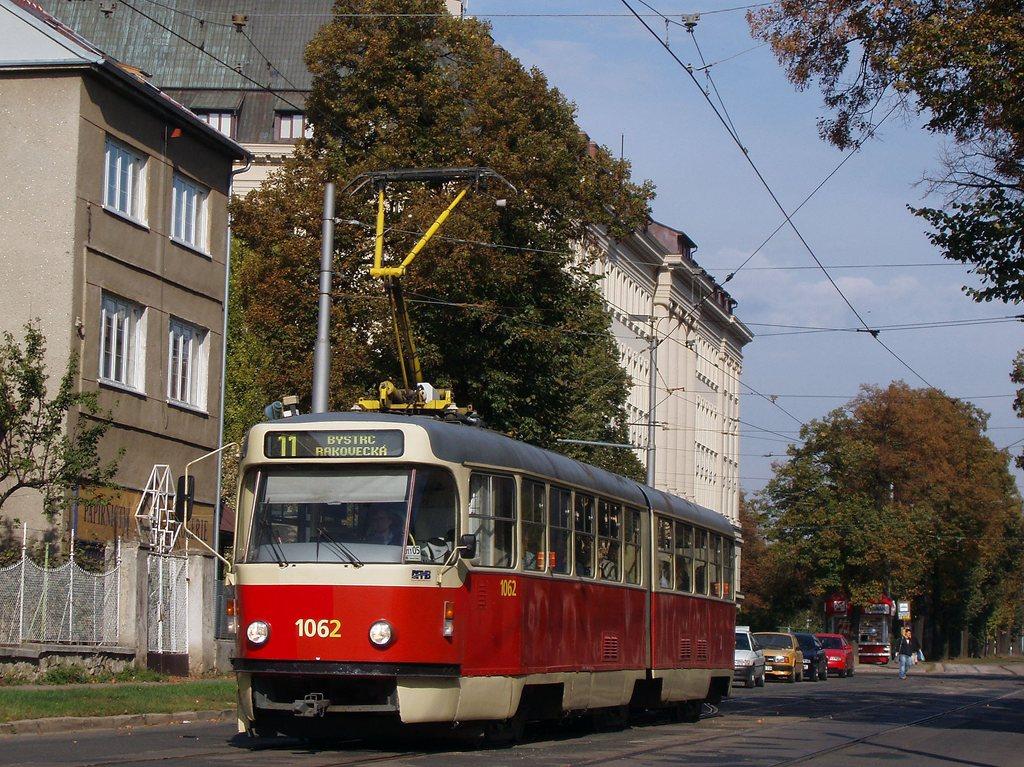 Fotogalerie » ČKD Tatra K2P 1062 | Brno | Černá Pole | Lesnická
