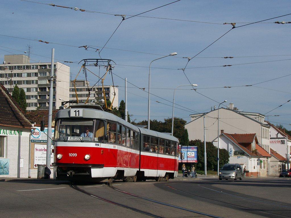 Fotogalerie » ČKD Tatra K2 1099 | Brno | Žabovřesky | Rosického náměstí