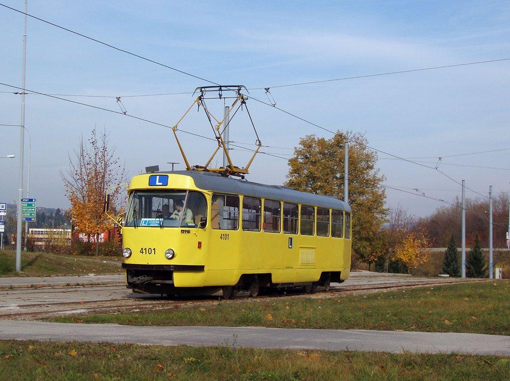Fotogalerie » ČKD Tatra T3 školní 4101   Brno   Bystrc   Rakovecká, smyčka
