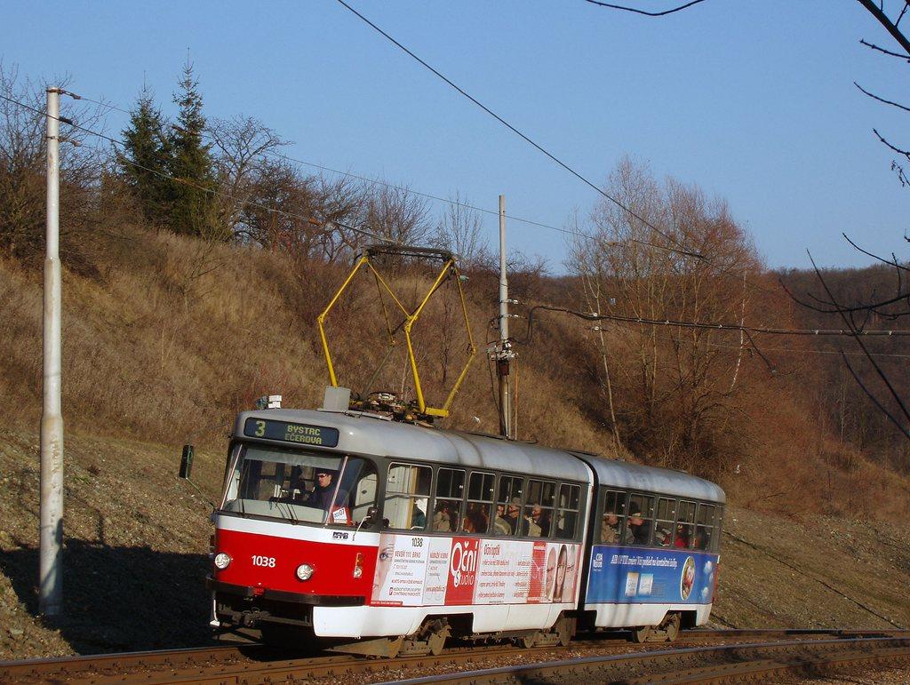 Fotogalerie » ČKD Tatra K2T 1038 | Brno | Bystrc