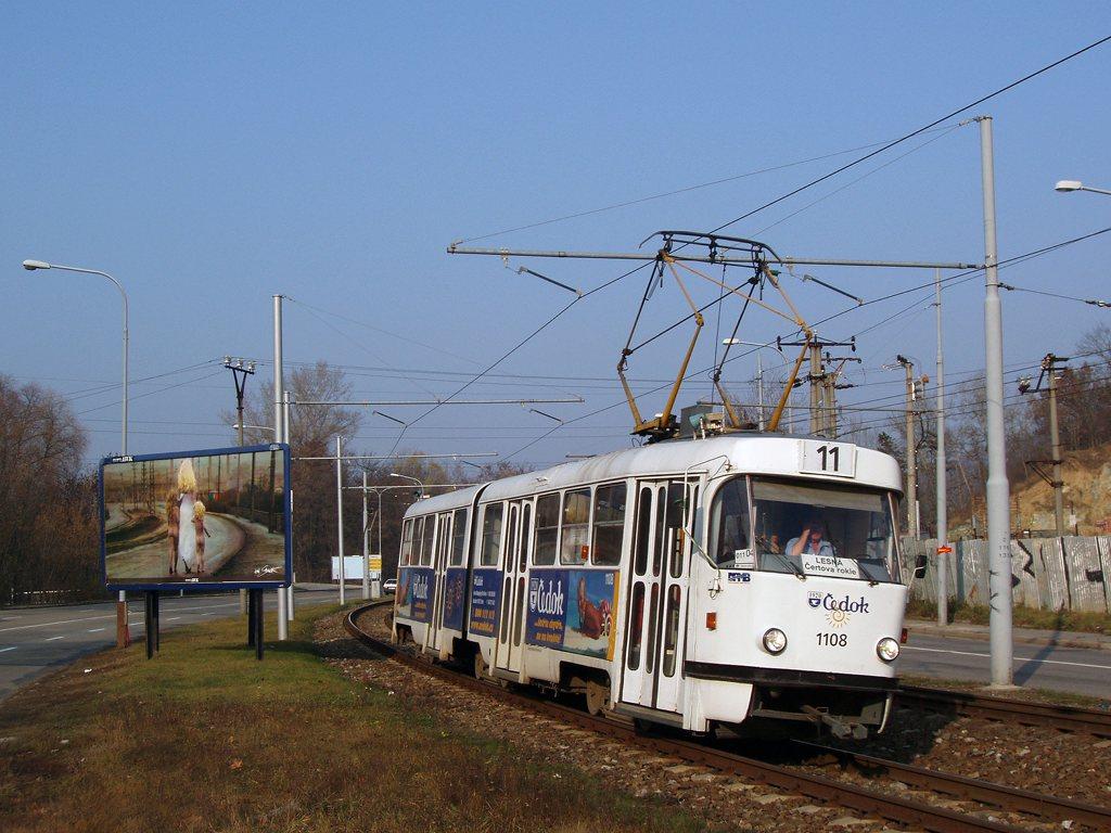 Fotogalerie » ČKD Tatra K2 1108 | Brno | Komín | Kníničská
