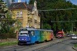Již dříve propagovala brněnskou hvězdárnu K2P 1041. Tramvaje se do ulice Údolní vrátí bezmála po roce.