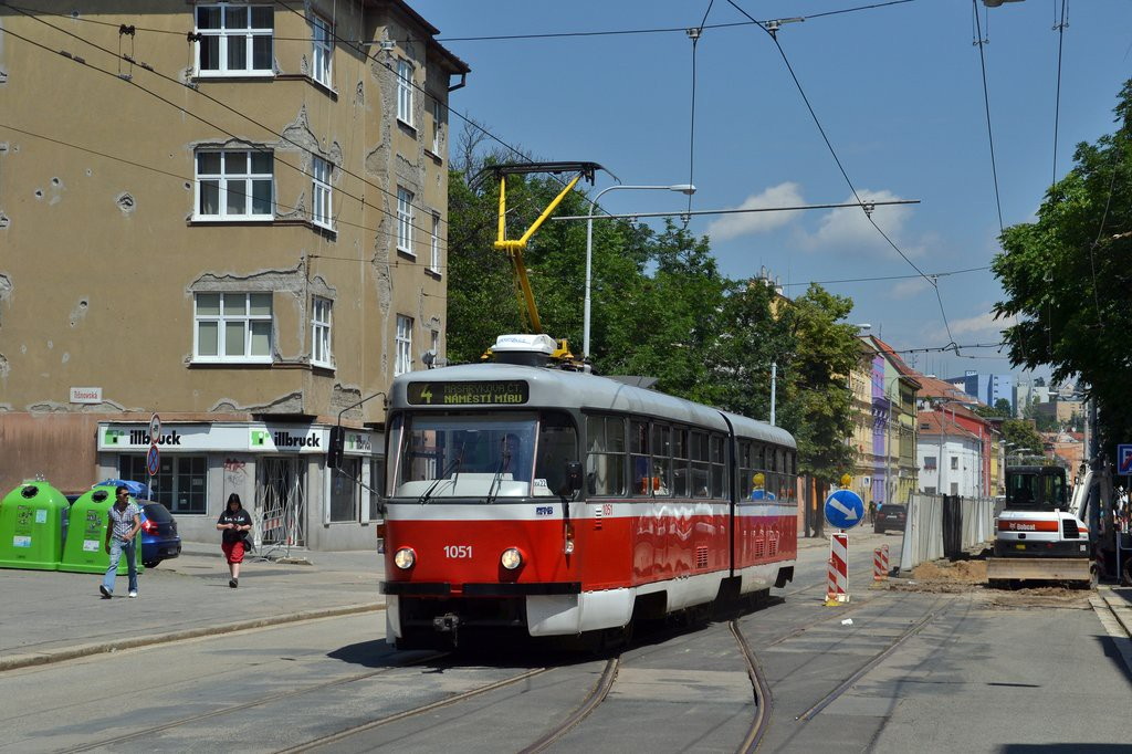 Fotogalerie » ČKD Tatra K2P 1051 | Brno | Husovice | Vranovská