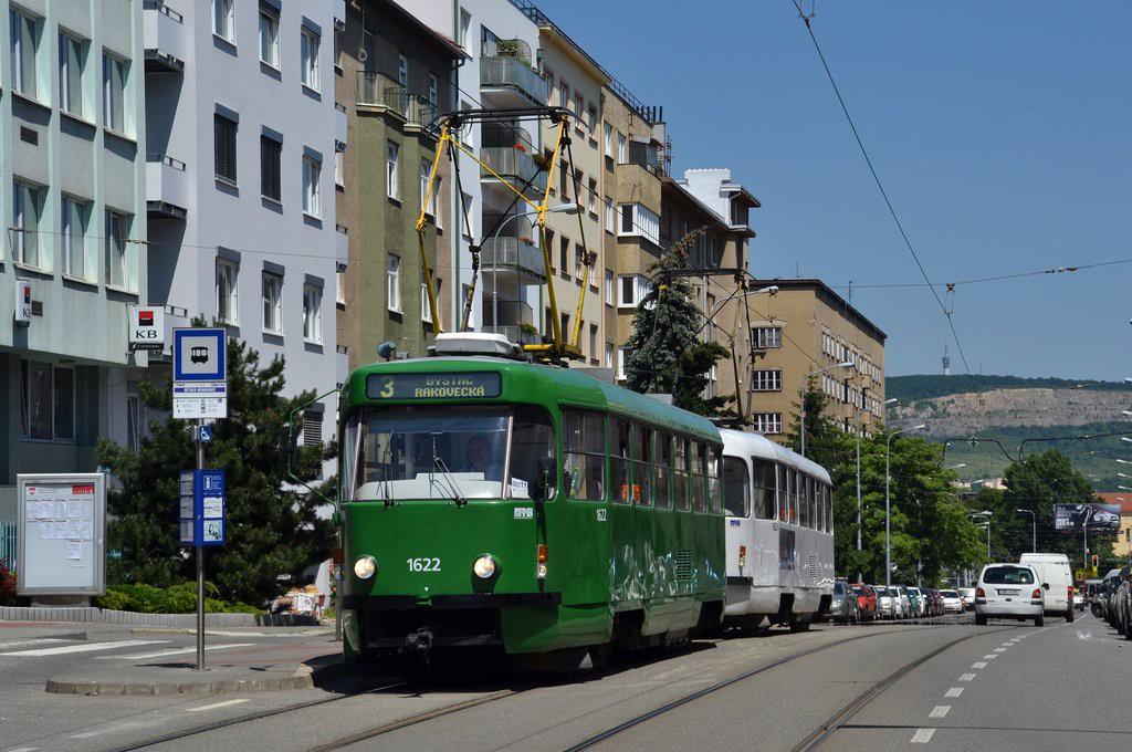 Fotogalerie » ČKD Tatra T3P 1622 | ČKD Tatra T3P 1623 | Brno | Černá Pole | Merhautova | Dětská nemocnice