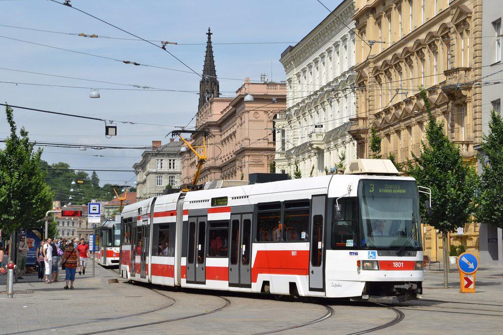 Fotogalerie » ČKD DS RT6N1 1801 | Brno | střed | Joštova | Česká