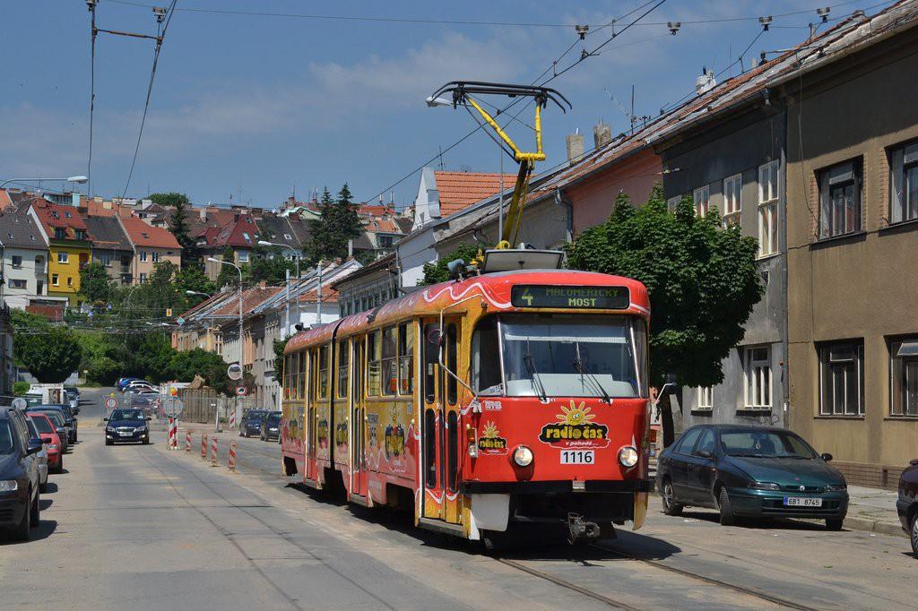 Fotogalerie » ČKD Tatra K2P 1116   Brno   Husovice   Svitavská