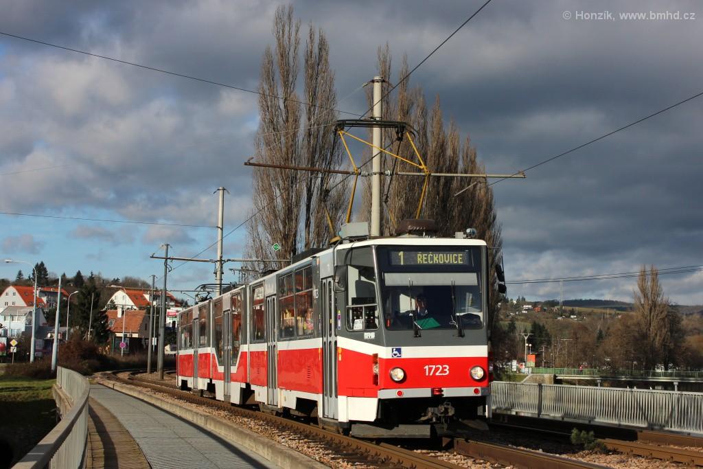 Fotogalerie » ČKD Tatra KT8D5R.N2 1723 | Brno | Bystrc | Kníničská