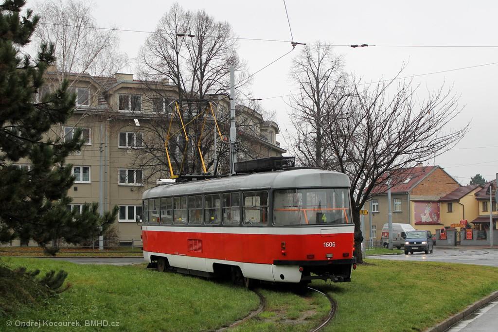 Fotogalerie » ČKD Tatra T3G 1606 | Brno | Maloměřice | Dolnopolní