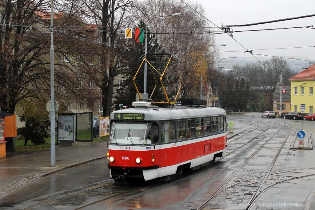 Fotogalerie » ČKD Tatra T3G 1606 | Brno | Maloměřice | Dolnopolní | Maloměřický most