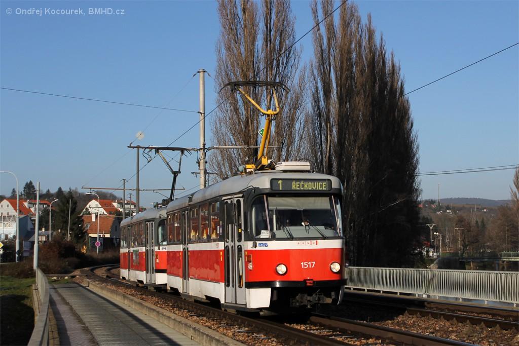 Fotogalerie » Pragoimex T3R.PV 1517 | Pragoimex T3R.PV 1558 | Brno | Bystrc | Kníničská