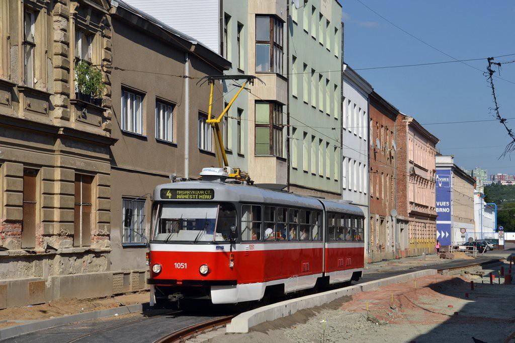 Fotogalerie » ČKD Tatra K2P 1051 | Brno | Husovice | Mostecká